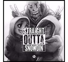 Undertale: Straight Outta Snowdin Photographic Print