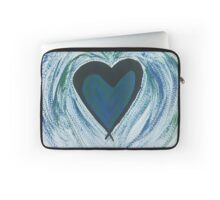 Blue Green Heart Laptop Sleeve