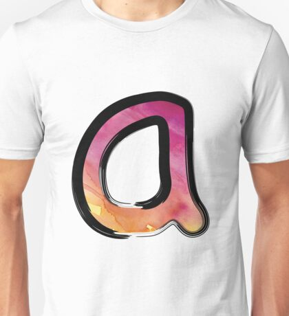 Watercolor - A - pink Unisex T-Shirt