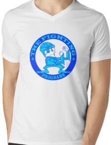 The Fighting Programs with Logo Mens V-Neck T-Shirt