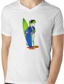 Holiday Gecko Mens V-Neck T-Shirt