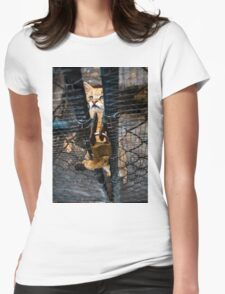 Wild cat Womens Fitted T-Shirt