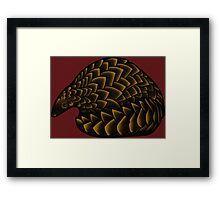 Save the Pangolins Framed Print