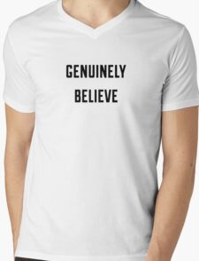 genuinely believe one direction larry  Mens V-Neck T-Shirt