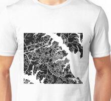 Annapolis Map - Black Unisex T-Shirt