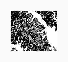 Annapolis Map - Black Unisex T-Shirt