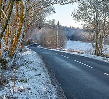 Countryside Road in Central Scotland by Jeremy Lavender Photography