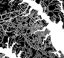 Annapolis Map - Black by CartoCreative