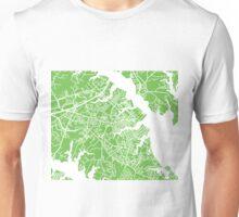 Annapolis Map - Light Green Unisex T-Shirt