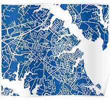 Annapolis Map - Deep Blue Poster
