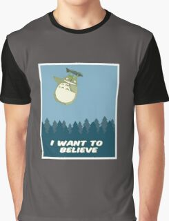 """I Want to Believe"" Totoro  Graphic T-Shirt"