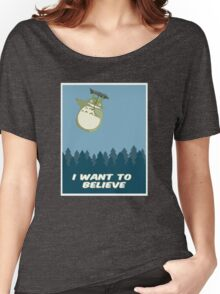 """""""I Want to Believe"""" Totoro  Women's Relaxed Fit T-Shirt"""