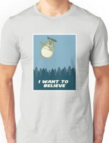 """I Want to Believe"" Totoro  Unisex T-Shirt"