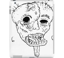Melted Face 666 BW iPad Case/Skin