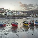 Staithes at Dusk by StephenRB