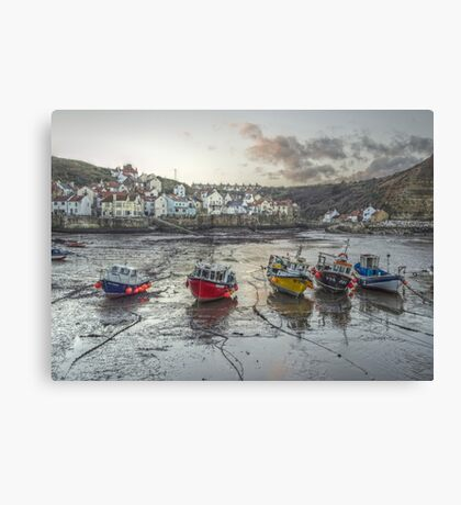 Staithes at Dusk Canvas Print