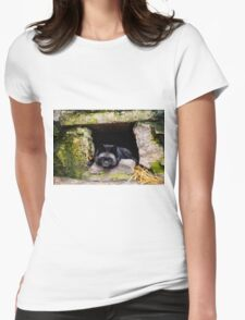 Wild animal Womens Fitted T-Shirt