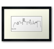 Providence Skyline Framed Print