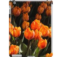 Flame Colored Tulips - Enjoying the Beauty of Spring iPad Case/Skin