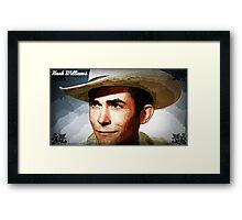 Painting Of Hank Williams Framed Print
