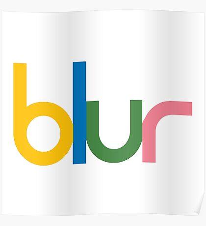 Blur - Logo Poster
