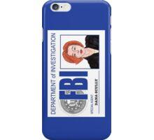 Agent Dana Scully iPhone Case/Skin