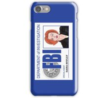 Agent Dana Scully iPhone Case/Skin