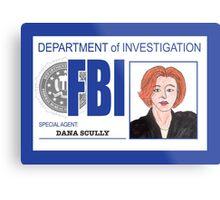 Agent Dana Scully Metal Print