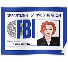 Agent Dana Scully Poster