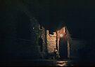 Prison Gateway at night Paris 19570917 0011 by Fred Mitchell