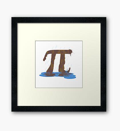 Mud Pi Framed Print
