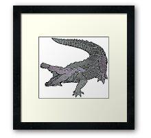 Concrete Crocodile  Framed Print