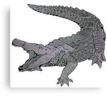 Concrete Crocodile  Canvas Print