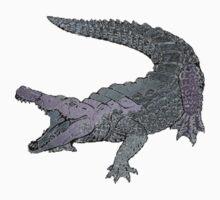 Concrete Crocodile  One Piece - Short Sleeve