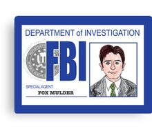 Agent Fox Mulder Canvas Print