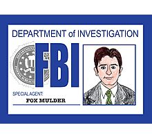 Agent Fox Mulder Photographic Print