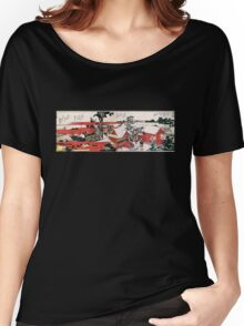 'Red House' by Katsushika Hokusai (Reproduction) Women's Relaxed Fit T-Shirt