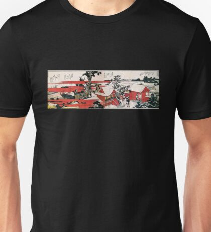 'Red House' by Katsushika Hokusai (Reproduction) Unisex T-Shirt