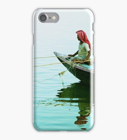 Fishing on the Ganges iPhone Case/Skin