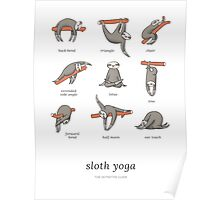 Sloth Yoga - The Definitive Guide Poster