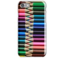 A Rainbow of Pencils iPhone Case/Skin