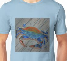 Blue Crab on the Dock Unisex T-Shirt