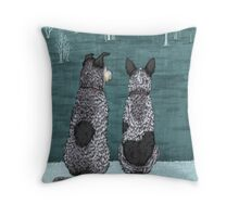 "Australian Cattle Dog, Blue Heeler, ""The Lookouts"" Throw Pillow"