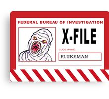 X-File: Flukeman Canvas Print