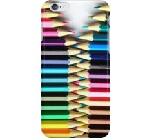 Opening Colored Pencils iPhone Case/Skin