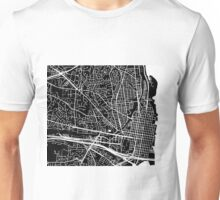 Alexandria Map - Black Unisex T-Shirt
