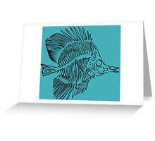 Fish Bones Greeting Card