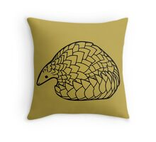 Save the Pangolins Throw Pillow