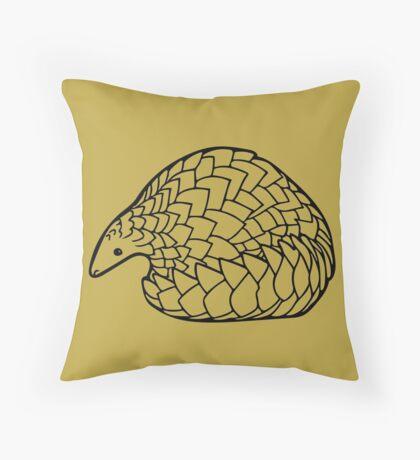 Save the Pangolins Throw Pillow