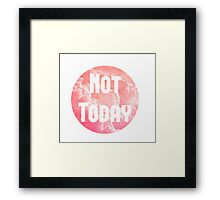 Pink Cloud - 'Not Today' Framed Print